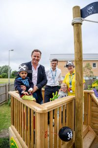 New playground at the qillow ward Darnet valley hospital from Europa Charity